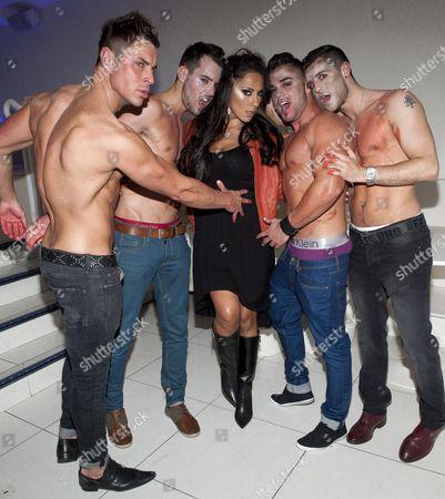 Carol Anthony with boyband 'Boulevard'