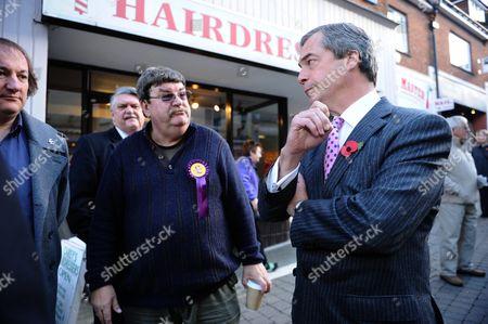 Nigel Farage with local UKIP PR Phil Heath