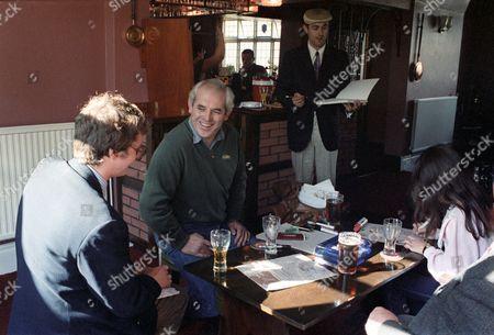 Stephen Pile, Ralph Steadman, Humphrey Ocean and locals