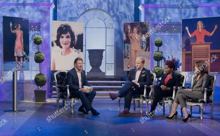 Stock Image of Alan Titchmarsh with William Hansen, Amber Morales and Bonnie Greer