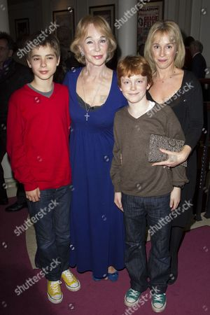 Charlie Gill, Shirley Anne Field, Max Gill and Nicola Gill