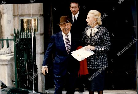 Businessman Hotelier Baron Charles Forte And Lady Forte Leaving Drapers Hall Charles Forte Baron Forte (26 November 1908 A 28 February 2007) Was A British/italian Caterer And Hotelier Who Founded The Leisure And Hotels Conglomerate That Ultimately Became Forte Group.