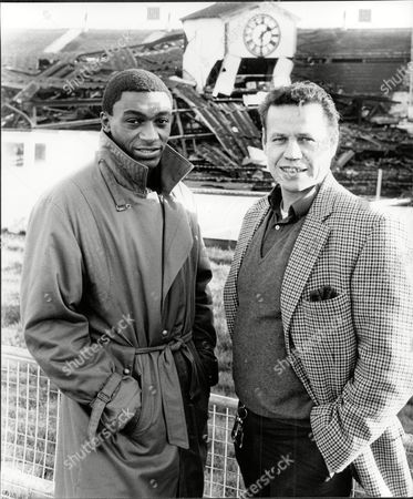 Herol Graham With Fellow Boxer Terry Downes 1984.