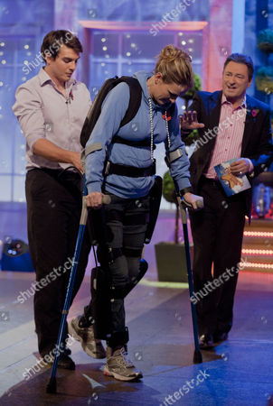 Claire Lomas and Alan Titchmarsh