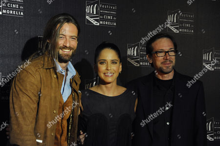 Stock Photo of William Miller, Ana Claudia Talancon and Director Emilio  Barrachina