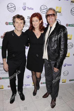 Stock Image of Willem Dafoe, Git Scheynius and Peter Fonda