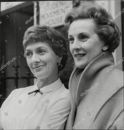 Actress Diana Churchill (left) And Anne Crawford Actress Diana Churchill (later Mrs Diana Johns) Wife Of Actor Mervyn Johns.