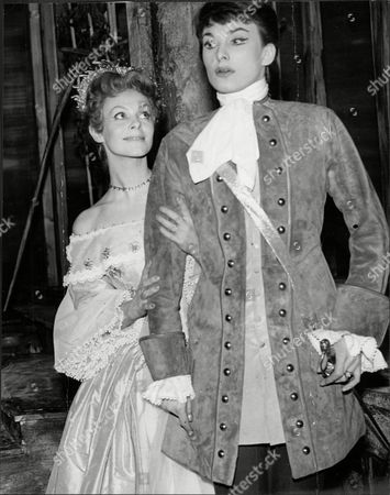 Jill Dixon In Costume With Fellow Actress Barbara Jefford For Production Of The Twelfth Night 1958.