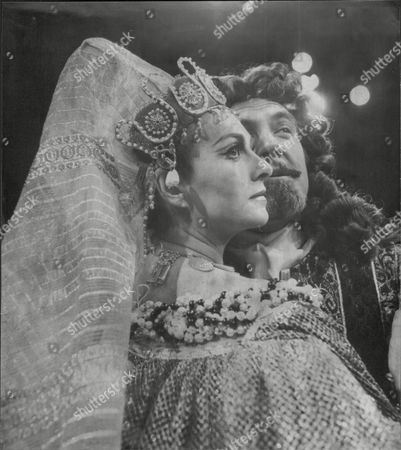 Barbara Jefford With Fellow Actor John Turner In Costume For Production Of Anthony & Cleopatra 1977.