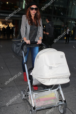 Una Healy pushing Baby Aoife Belle Foden