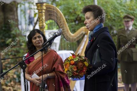Shrabani Basu and Princess Anne