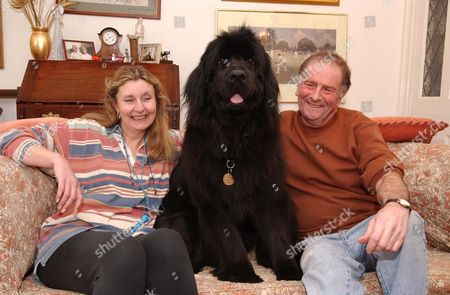 Tory MP Roger Gale And His Wife Susan And Their Dog Lulu Pictured At Home In Preston Near Canterbury Kent. Mr Gale Described The Dog As 'the Only Other Love In His Life'.  27/3/04.