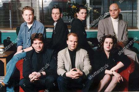 The Editorial Team Of Modern Review: L-r Back:- Gavin Pretor-pinney Tom Shone Roseanne Blair And Anthony Costin. L-r Front Row:- Cosmo Landesman Toby Young And Julie Burchill.