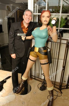 34 Brondesbury Park Brondesbury North London. Home Of Jimmy Lahoud Business Partner Of Chef Marco Pierre White. Jimmy Lahoud With His Life-size Model Of Lara Croft. For Sale At Foxtons At A3.5m Or A6 000 Per Week Rent. (020-7433-6600).