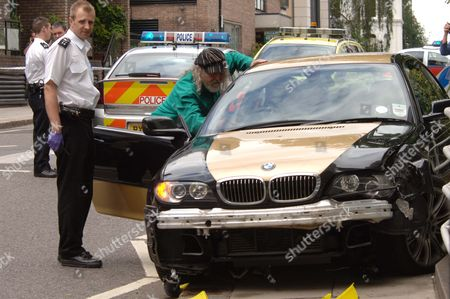 The Marquess Of Bath Pictured At The Scene Of The Road Traffic Accident In Camden Hill Road Notting Hill Gate On Friday Afternoon Which Left A 27 Year Old Man In Hospital With Head Injuries. .