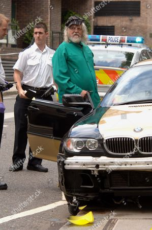 Stock Picture of The Marquess Of Bath Pictured At The Scene Of The Road Traffic Accident In Camden Hill Road Notting Hill Gate On Friday Afternoon Which Left A 27 Year Old Man In Hospital With Head Injuries.  22/06/2007.