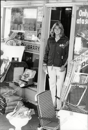 Andrea Jaeger Tennis Player At Video Store 1983.