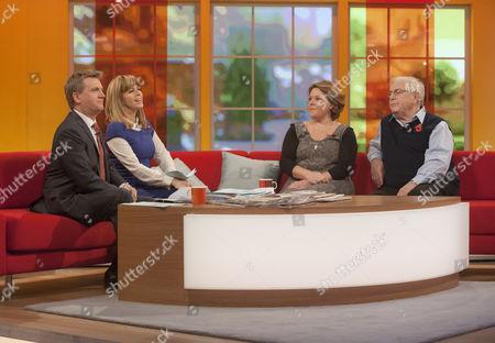 Aled Jones and Kate Garraway with Wendi Peters and Peter Baldwin