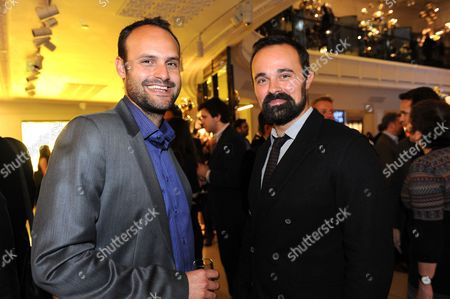 Stock Photo of CEO of City Gateway, Eddie Stride and Evgeny Lebedev