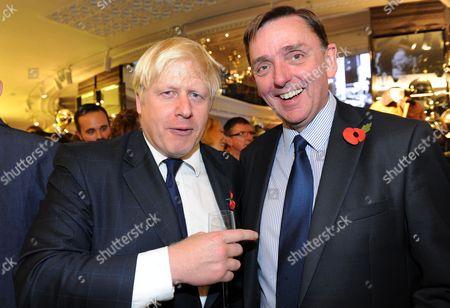 London Mayor Boris Johnson and Sir Robin Andrew Wales, Mayor of the London Borough of Newham