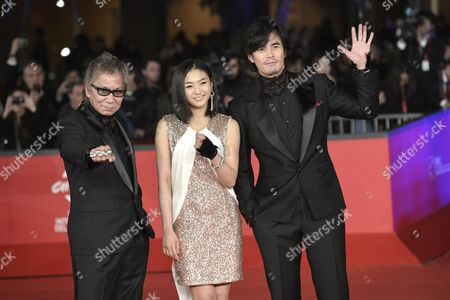 Takashi Miike, Erina Mizuno and Hideaki Ito
