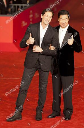 Adrien Brody and Zhang Guo Li