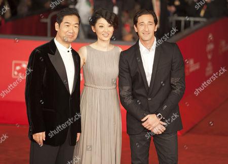 Stock Photo of Zhang Guo Li, Xu Fan and Adrien Brody