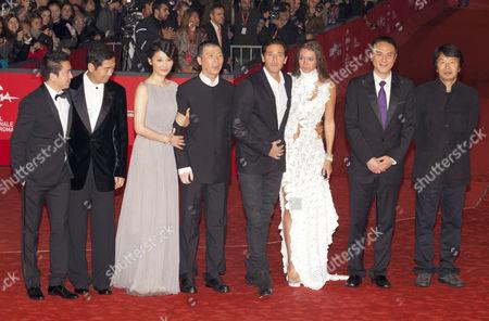 Zhang Guo Li, Xu Fan, Adrien Brody, Lara Leito, Feng Xiaogang, Wang Zhongiei and Liu Zhenyun