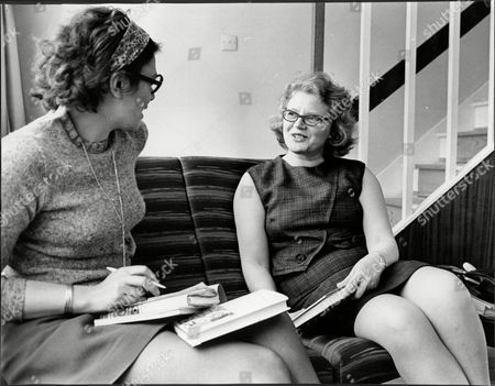 Author Margaret Jones (right) With Daily Mail Writer Virginia Ironside (left) Authoress.