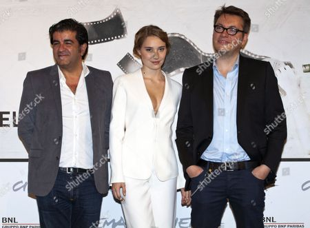 Alain Attal, Deborah Francois and Director Regis Roinsard