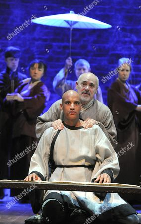 'The Orphan of Zhao' - Graham Turner as Dr Cheng Ying and Jake Fairbrother as Cheng Bo