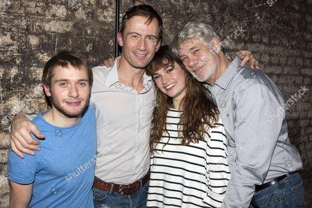 Joseph Drake (Konstantin), Anthony Howell (Trigorin), Lily James (Nina) and Matthew Kelly (Dorn)