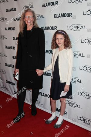 Stock Image of Annie Leibovitz with daughter Sarah Leibovitz