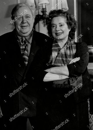 Actor Charles Laughton And Wife Actress Elsa Lanchester.