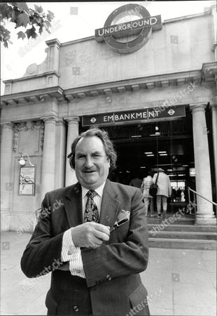 Businessman Sir John Harvey Jones Outside Embankment Station Sir John Harvey-jones Mbe (16 April 1924 A 9 January 2008) Was An English Businessman. He Was The Chairman Of Imperial Chemical Industries From 1982 To 1987. He May Have Been Best Known For His Bbc Television Show Troubleshooter In Which He Advised Struggling Businesses.