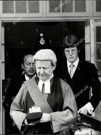 Sir William Mars Jones High Court Judge With Son Adam Mars Jones During Donald Neilson Murder Trial 1976.
