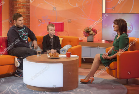 Marc Wootton and Ben Wilby with Presenter Lorraine Kelly
