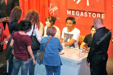 """Editorial picture of Finalists from """"The Voice"""" at a showcase at the Virgin Megastore, Champs Elysee, Paris, France - 21 Jun 2012"""