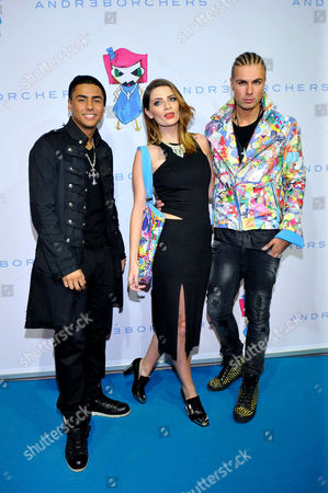 Quincy Brown, Mischa Barton and Andre Borchers