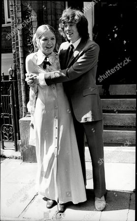 Wedding Of Dinah Casson And Actor Nicholas Wood At Kensington Register Office She Is Daughter Of Sir Hugh Casson.