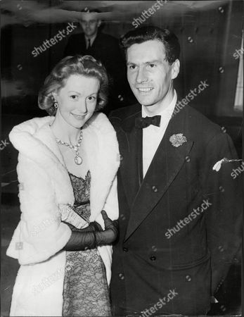 Moira Shearer Ballet Dancer & Actress With Husband Journalist Ludovic Kennedy 1957.