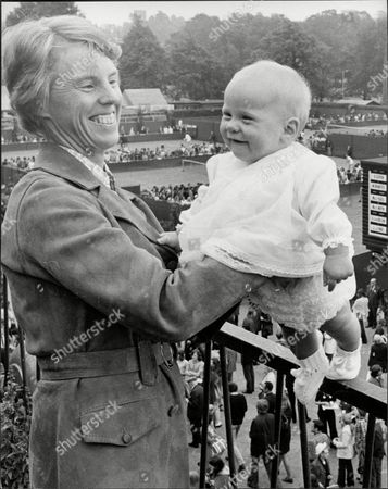 Tennis Player Ann Jones With Baby Daughter Philippa At Wimbledon Ann Haydon-jones (born Adrianne Shirley Haydon On 7 October 1938 In Kings Heath Birmingham England United Kingdom) Is A Former Table Tennis And Lawn Tennis Champion. She Won A Total Of 7 Grand Slam Championships During Her Career: Three In Singles Three In Women's Doubles And One In Mixed Doubles.