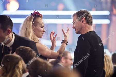 Helena Seger talks to Swedish Eurovision Song Contest general Christer Bjorkman