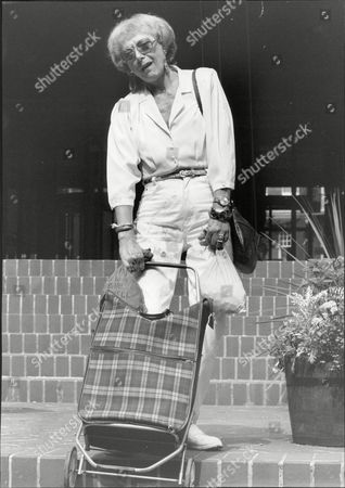 Stock Photo of Miriam Karlin Actress Paying Her Poll Tax.