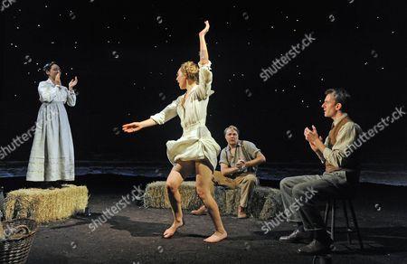 'The Dark Earth and the Light Sky' - Pandora Colin as Eleanor, Hattie Morahan as Helen Thomas, Shaun Dooley as Robert Frost and Pip Carter as Edward Thomas