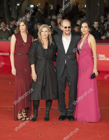 Director Larry Clark with Drake Burnette, Mary Farley and Tina Rodriguez