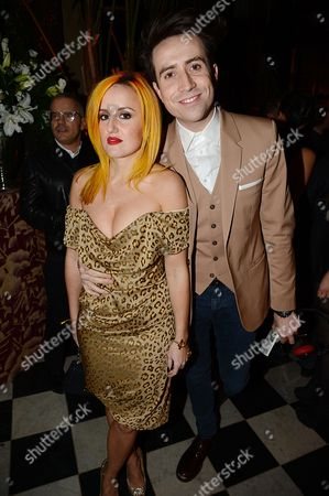 Nick Grimshaw and friend Aimee Phillips