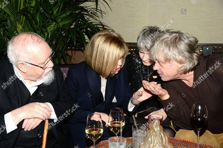 Sir Peter Blake with wife Chrissy Blake and Bob Geldof