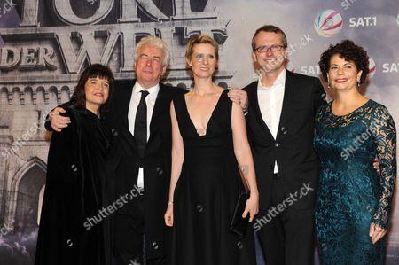 Barbara and Ken Follett, Cynthia Nixon, Nicolas Paalzow and Rola Bauer