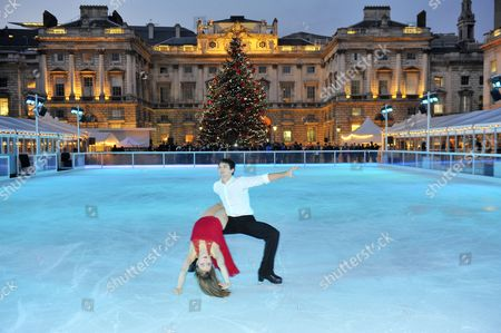 Editorial photo of Somerset House Christmas ice rink opening, London, Britain - 15 Nov 2012